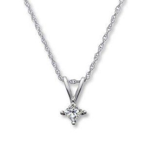Gorgeous 1 Carat Solitaire Diamond Necklace Pendan